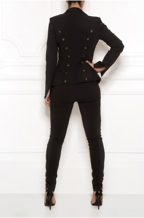 Tailored eyelet blazer and trouser set