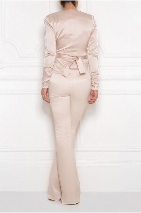 High waist flared trouser